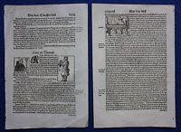 Original antique woodcut prints, FIGURES COSMOGRAPHIA, Sebastian Munster, c.1578