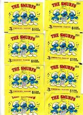 10 1982 Topps Smurf Stickers Unopened Wax Packs