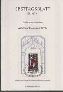 Ersttagsblatt 28/1977 Weihnachtsmarke 1977