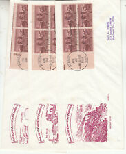 FDC'S #993 RAILROAD ENGINEERS #10 SIZE FIVE PENT ARTS CACHETS BLOCKS 4 & PLATEE