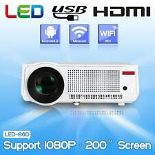5500Lumen Full HD 3D Wifi LED LCD Home Theater Projector Beamer HDMI TV USB RJ45