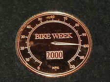 FRANKLIN MINT - BIKE WEEK BROZE MEDAL 2000 -  MPH SPEEDOMETER - IN ORIGINAL BOX