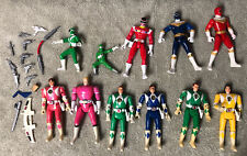 LOT 11 VINTAGE BANDAI MIGHTY MORPHIN POWER RANGERS FLIP HEAD FIGURES Accessories