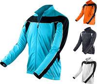 Spiro Mens Bike Cycle Long Sleeve Top Jersey - Full Zip - Performance Fabric