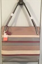 RADLEY LONDON STRIPED GREY MULTI PEMBROKE SHOULDER TOTE LEATHER BAG LARGE BNWT