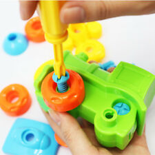 Early Learning Education DIY Screw Nut Group Installed Plastic 3d Puzzle Kid Toy