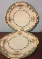 2 Eltovar Gold Handled Noritake Cake Plates