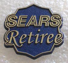 Vintage Sears Department Store Retiree Large Plastic Pin