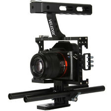 VELEDGE Portable Camera Video Stabilizer Cage Rig+ Top Handle Grip for Sony DSLR