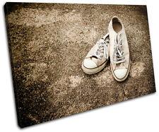 Lo Top Sneakers Vintage SINGLE DOEK WALL ART foto afdrukken
