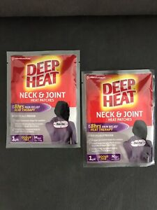 Deep Heat Neck & Joint Heat Patches 2 Pack Neck Tension Shoulder Back Pains