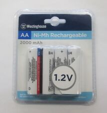 4-AA WESTINGHOUSE RECHARGEABLE BATTERIES 2000mAh 1.2V Ni-Mh
