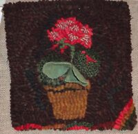 MEMORIAL DAY FLOWERS ~ RUG IN A DAY LINEN PATTERN ~ PRIMITIVE RUG HOOKING