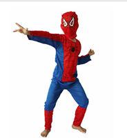 Spiderman-Kostüm-Fasching - Spidermankostüm Kinder  Größe S-M-L