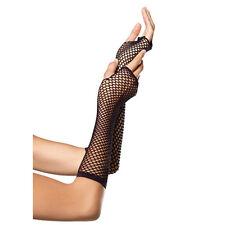 Dettagli su  Sexy Guanti net fingerless Nero HoT media lunghezza aperti sulle d