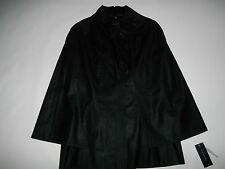 TAHARI Black BELLE Caplet CAPE Dress COAT Jacket womens size MEDIUM NEW wTAG