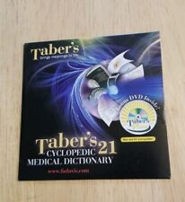 CD-ROM DVD Taber's Cyclopedic Medical Dictionary Mac and PC Compatible sealed