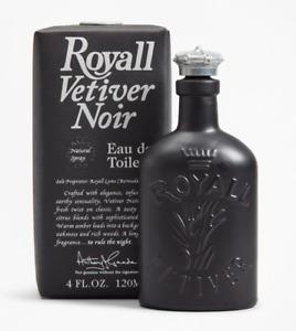 ROYALL VETIVER NOIR * 4/4.0 oz. (120 ml) EDT Spray * NEW in BOX & SEALED