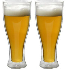 2x Double Wall Thermo Beer Glass, 570ml PINT BEER DW-236