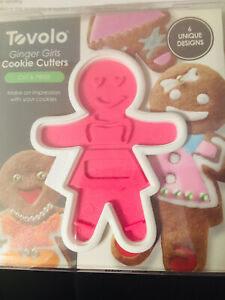 TOVOLO COOKIE CUTTERS 6 UNIQUE DESIGNS GINGER GIRLS CUT & PRESS