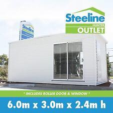 Brand New Colorbond Kit Shed - Roller Door + Window