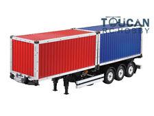 Hercules 2*20ft Container Unpainted for 1/14 DIY RC TAMIYA Semi Trailer Tractor