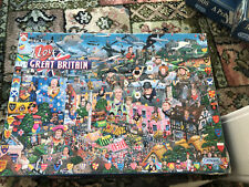 Gibsons Mike Jupp I Love Great Britain Jigsaw Puzzle - 1000 pieces