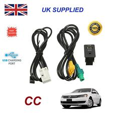 For VW CC USB Aux Switch socket Fits RCD510 310 300 RNS315 NAV 238 268MF Adapter