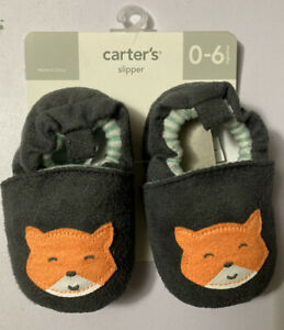 NWT Carter's Fox Baby Slippers 0-6 months
