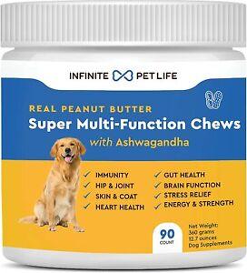 Infinite Pet Life Multi Function Chews Multivitamins Dogs Skin Allergy Coat 90c
