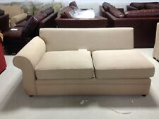 Pottery Barn Pearce Couch Sofa Sectional Walnut Canvas Suede Left Arm Loveseat