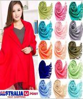 PASHMINA soft solid WRAP SCARF SHAWL premium quality WOMEN neck warmer AU Seller