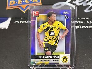 2020-21 Topps Chrome Bundesliga JUDE BELLINGHAM Purple Refractor RC /299 BA