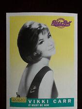 1991 EMI Legends of Rock N' Roll Vikki Carr 5 X 7 Promotional Card #19