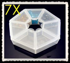 FREE 7 grid DIY Jewelry Boxes Transparent Storage Case Box Clear Beads Display