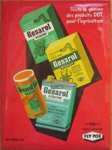 1950s French Agricultural/Gardening Advertising Sign: Celluloid Over Tin-Gesarol