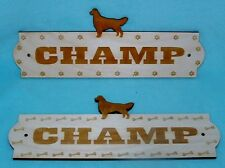 Custom Dog Puppy Name Plate Kennel House Personalized Wood Sign