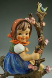 Vintage M.I. Hummel Goebel Apple Tree Girl #141/1 TMK3 Large Figurine