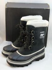 New SOREL Caribou Size 10 M Black Stone Winter Snow Women's Boots RETAIL $150