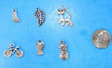 6pcs Tibet Silver Pendants LOT #16 Mixed Crafts Jewelry Making Charms