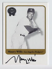 2001 Fleer Greats Of The Game Maury Wills On Card Auto #90