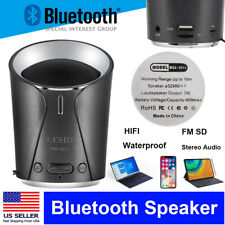 LESHP Rechargeable Wireless Bluetooth Speaker Portable Mini Super Bass For Home