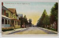 Quakertown Pennsylvania Residential Section E. Broad Street 1910 Postcard C3