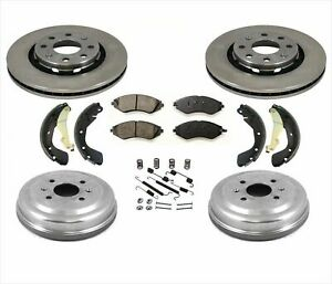 Rotors Brakes Drums Shoes Spring Kit for Chevrolet Aveo Fits Pontiac G3 07-11