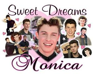 SHAWN MENDES Personalized PILLOWCASE #3 SWEET DREAMS Collage Any Name Super Soft