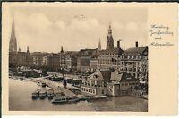 Ansichtskarte Hamburg - Jungfernstieg und Alsterpavillon - 1936 - schwarz/weiß