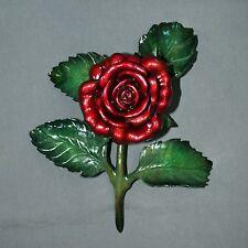 GORGEOUS BRONZE ROSE FLOWER SCULPTURE FIGURINE STATUE Detailed