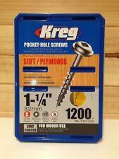 "Kreg Pocket Hole Screws - 1-1/4"", #8 Coarse, Washer-Head, Box 1200"