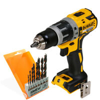 DeWalt DCD796 18V Brushless XR Combi Drill With 8 Piece Wood Drill Bit Set