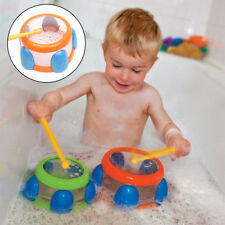 2PCS Floating Water Drums Kids Bath Music Instrument Toddler Toys Swimming Pool